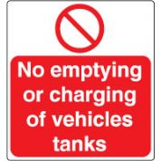 Prohibition safety sign - No Emptying or 066